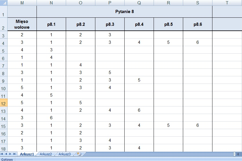 Kodowanie ankiet - przykład 6