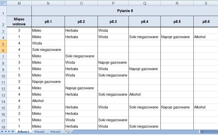Kodowanie ankiet - przykład 7